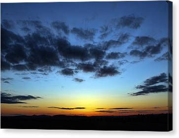 Canvas Print featuring the photograph Fall Sunset by Gary Smith