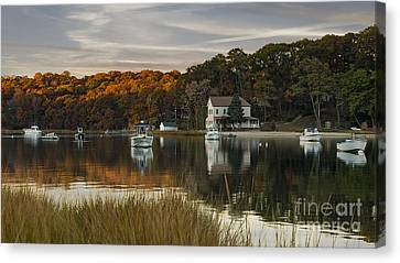 Fall Sunset In Centerport  Canvas Print