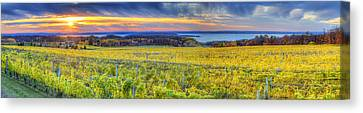Fall Sunset On Old Mission Canvas Print