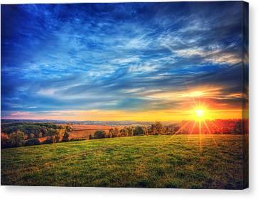 Fall Sunset - Retzer Nature Center - Waukesha Canvas Print by Jennifer Rondinelli Reilly - Fine Art Photography