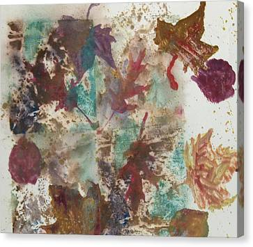 Fall Treasures Canvas Print by Claudia Smaletz