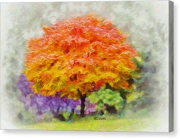 Fall Tree Canvas Print by Greg Collins