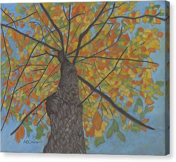 Fall Up Canvas Print by Arlene Crafton