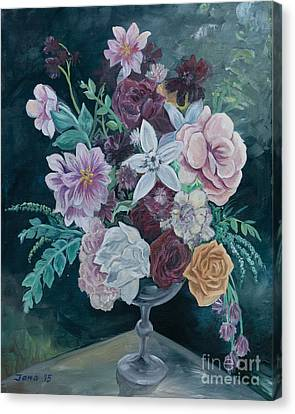 Fall Vase Canvas Print by Jana Goode