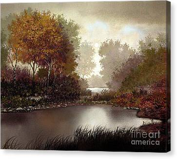 Fall Waters Canvas Print by Robert Foster