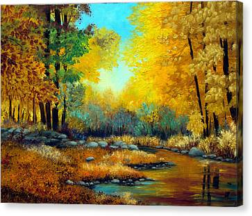 Fall Woods Stream  Canvas Print