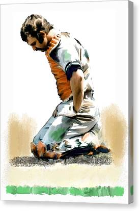 Fallen Captain Ix Thurman Munson Canvas Print by Iconic Images Art Gallery David Pucciarelli