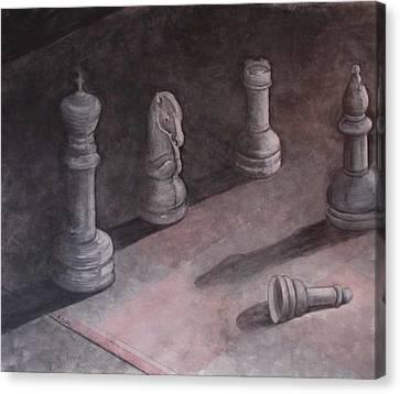 Fallen Chessman Canvas Print by Sandy Clift