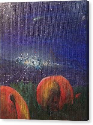 Fallen Fruit L Canvas Print by Colleen Birch