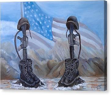 Fallen Heroes Canvas Print