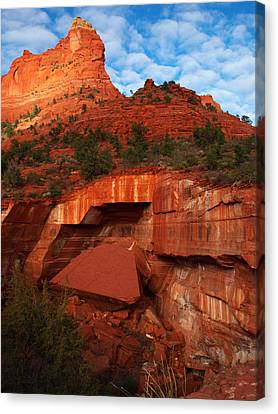 Canvas Print featuring the photograph Fallen by James Peterson