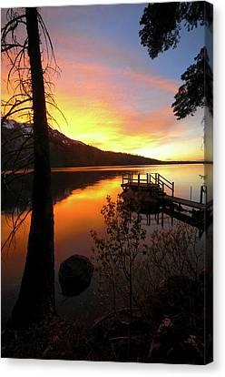 Fallen Leaf Lake Canvas Print by Jacek Joniec