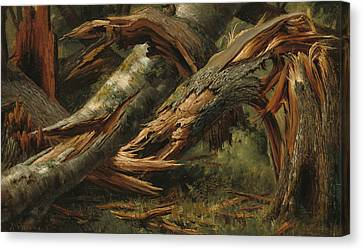 Fallen Tree Canvas Print by Alexandre Calame