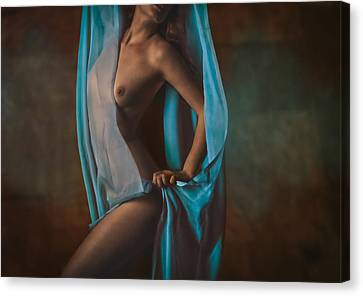 Falling Around Her Canvas Print by Naman Imagery