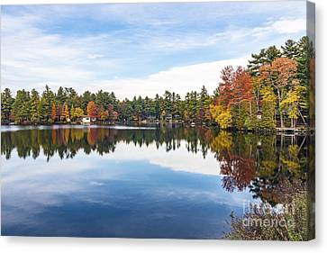 Canvas Print featuring the photograph Falling For New Hampshire by Anthony Baatz