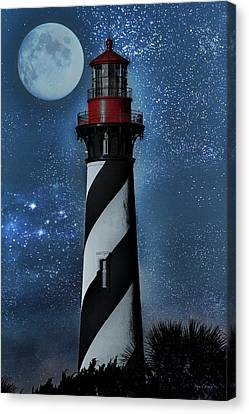 Starlight Canvas Print - Falling For You St Augustine Lighthouse by Betsy Knapp