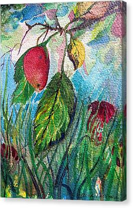 Falling Fruit Canvas Print by Mindy Newman