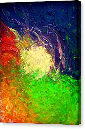 Canvas Print featuring the painting Falling In by Laura  Grisham