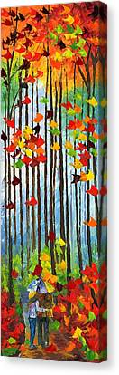 Falling In Love Canvas Print by Ash Hussein