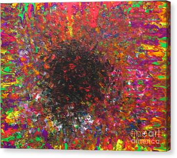 Canvas Print featuring the painting Falling by Jacqueline Athmann