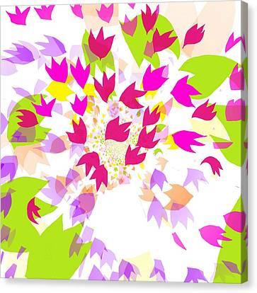 Falling Leaves Canvas Print by Barbara Moignard