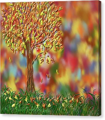 Falling Leaves Canvas Print by Kevin Caudill