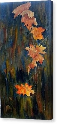 Falling Leaves Canvas Print by Marti Idlet