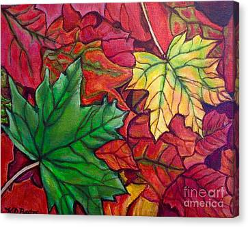 Falling Leaves I Painting Canvas Print by Kimberlee Baxter