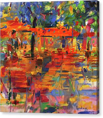 Falling Leaves, Paris Canvas Print