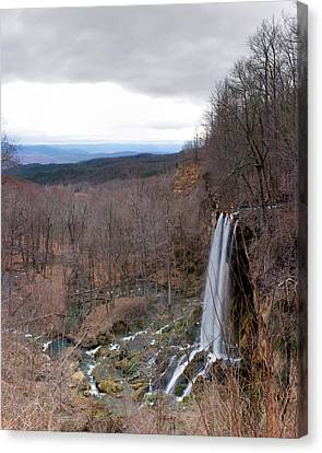 Falling Springs Panorama Canvas Print by Alan Raasch