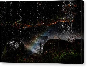 Falling Water Abstract Canvas Print