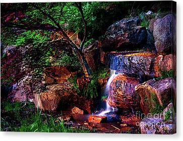 Falling Water At Honor Heights Park Canvas Print by Tamyra Ayles
