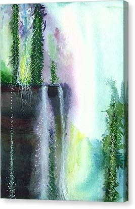 Falling Waters 1 Canvas Print by Anil Nene