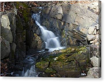 Falling Waters In February #2 Canvas Print by Jeff Severson