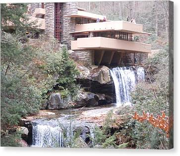 Falling Waters In November Canvas Print