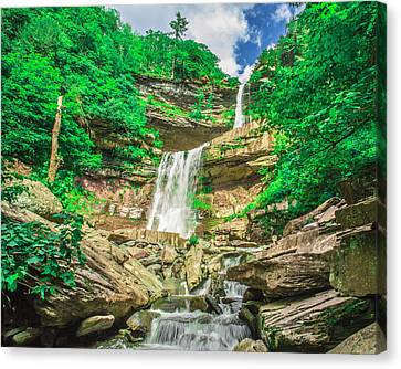 Canvas Print featuring the photograph Falling Waters by Paula Porterfield-Izzo