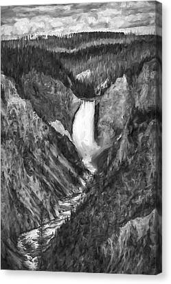 Falling Yellowstone IIi Canvas Print