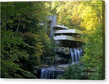 Waterfalls Canvas Print - Fallingwater by Bill Bachmann