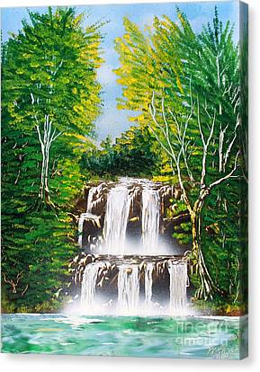 Canvas Print featuring the painting Falls 01 by Greg Moores