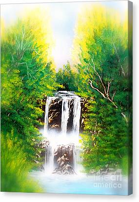 Falls 02 E Canvas Print by Greg Moores