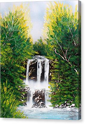 Canvas Print featuring the painting Falls 02 by Greg Moores