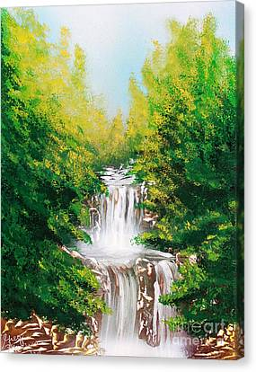 Canvas Print featuring the painting Falls 04 by Greg Moores