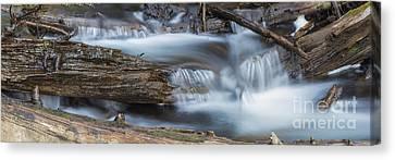 Sunriver Canvas Print - Falls Along Soda Creek by Twenty Two North Photography