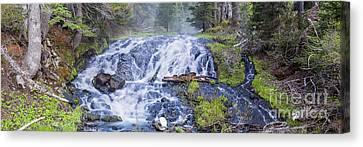 Sunriver Canvas Print - Falls At Todd Lake by Twenty Two North Photography