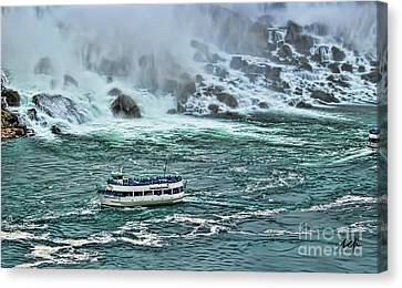 Canvas Print featuring the photograph Falls Boat by Traci Cottingham