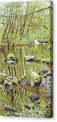 Canvas Print - Falls Creek Pool by Andrea Benson