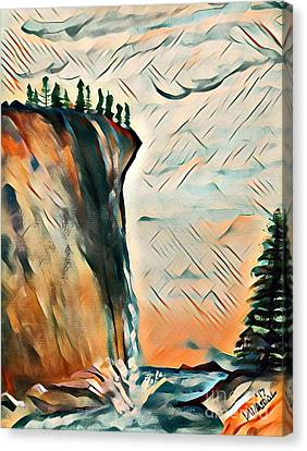 Falls From Clouds Falls - Sunset Canvas Print