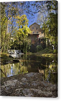 Falls Mill - D009770 Canvas Print by Daniel Dempster
