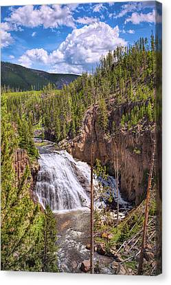 Canvas Print featuring the photograph Falls Of The Gibbon by John M Bailey