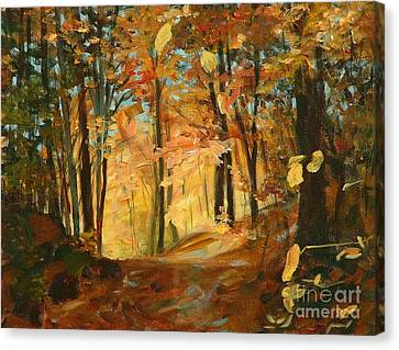 Fall's Radiance In Quebec Canvas Print